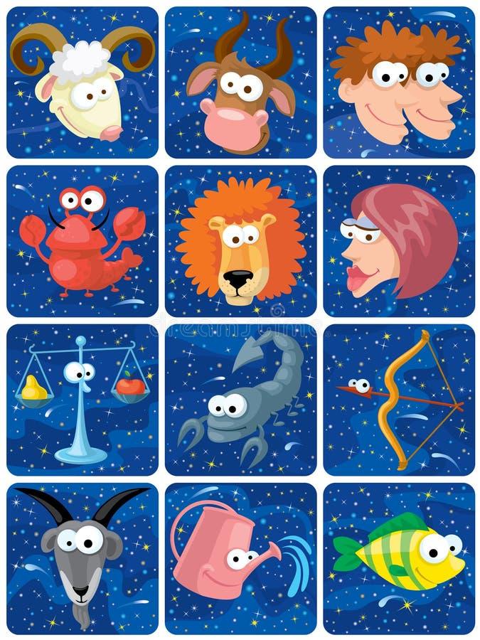 zodiac characters royalty free illustration