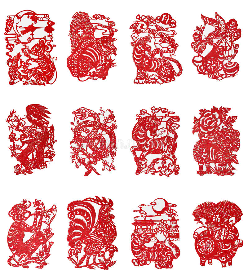 Free Zodiac Chinese Paper-cutting Royalty Free Stock Image - 17438896