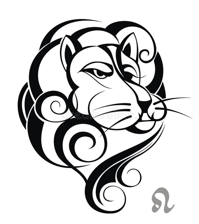 zodiac för leo teckenhjul vektor illustrationer