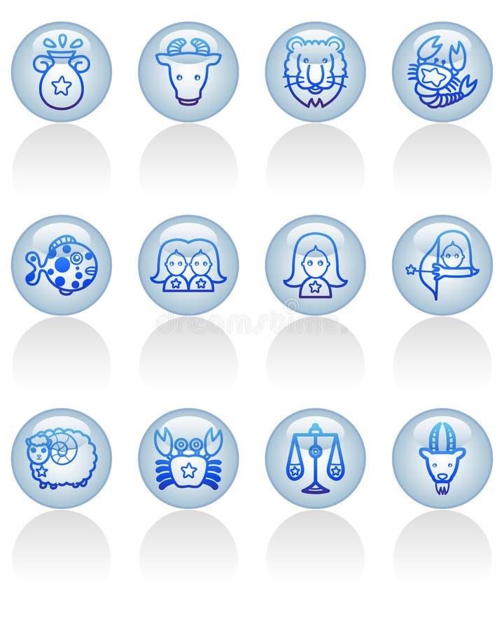 Zodiac icon stock photography