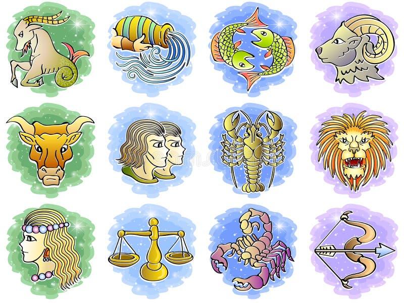 Download Zodiac Icon Set stock vector. Image of aura, crab, bull - 26698179
