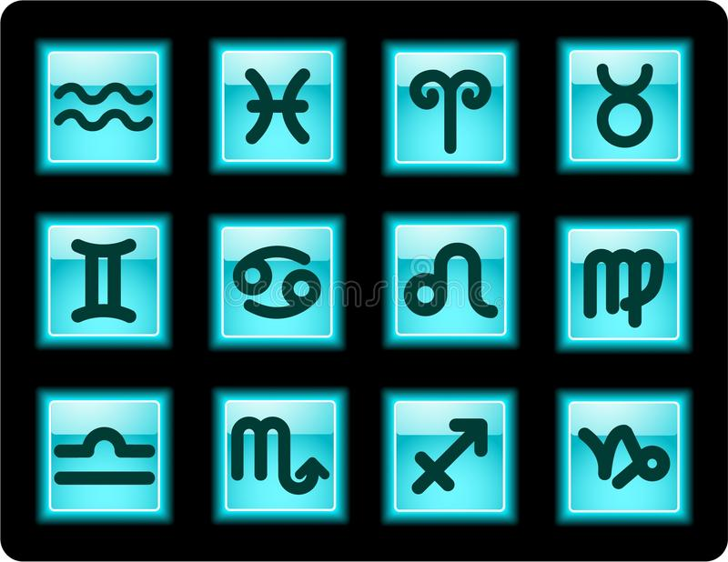 Zodiac icons stock photos