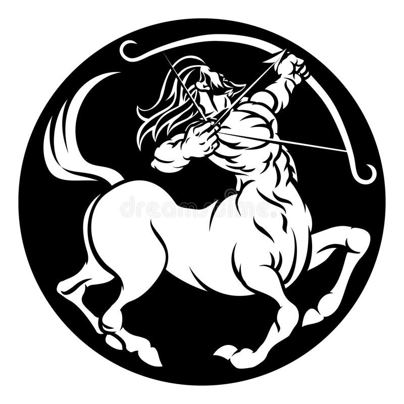 Zodiac Sagittarius Centaur σημάδι απεικόνιση αποθεμάτων