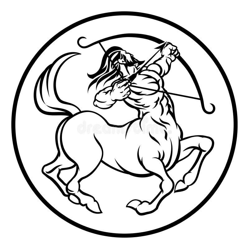 Zodiac Sagittarius Centaur ωροσκοπίων σημάδι διανυσματική απεικόνιση