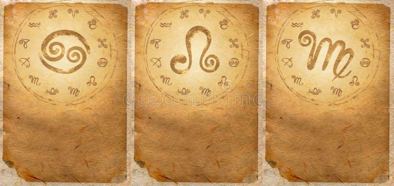 Zodiac series. For Cancer, Leo, Virgo royalty free stock photography