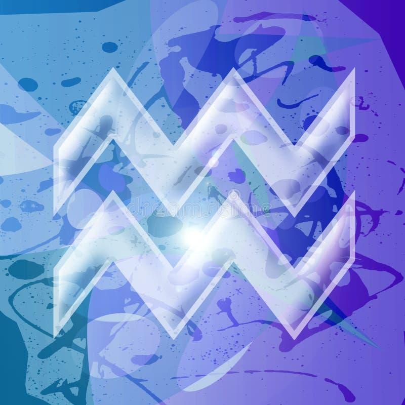Zodiac series - Aquarius royalty free stock image