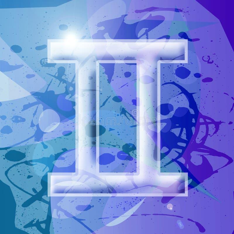 Zodiac series - Gemini stock image