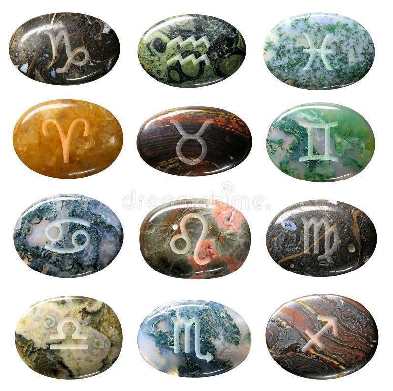 Zodiac sign. On gem isolated royalty free stock photos