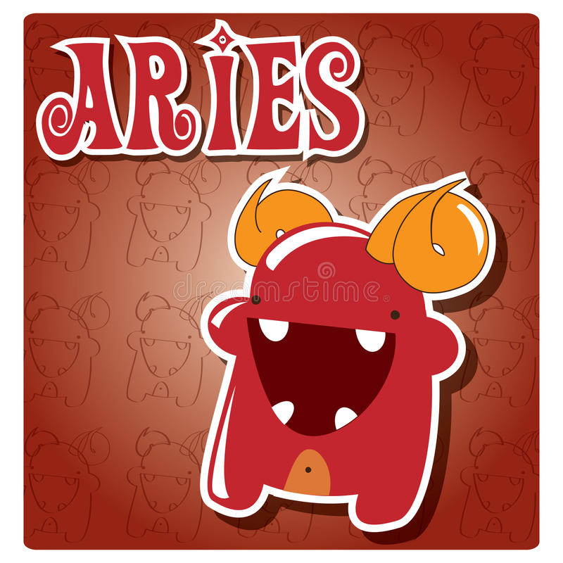 Download Zodiac sign Aries stock vector. Illustration of charming - 26742885