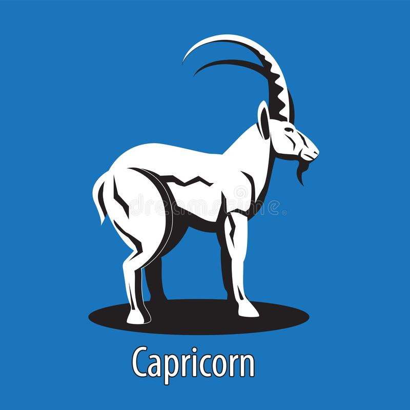 Zodiac sign Capricorn on an isolated background. Vector image. Eps 10 stock illustration