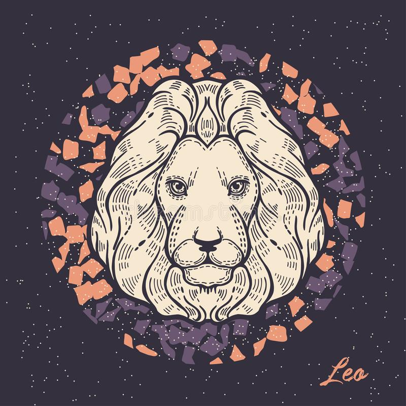 Zodiac sign Leo. The symbol of the astrological horoscope. royalty free illustration
