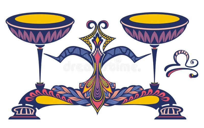 Zodiac sign of Libra. Astrological, horoscope symbol vector illustration
