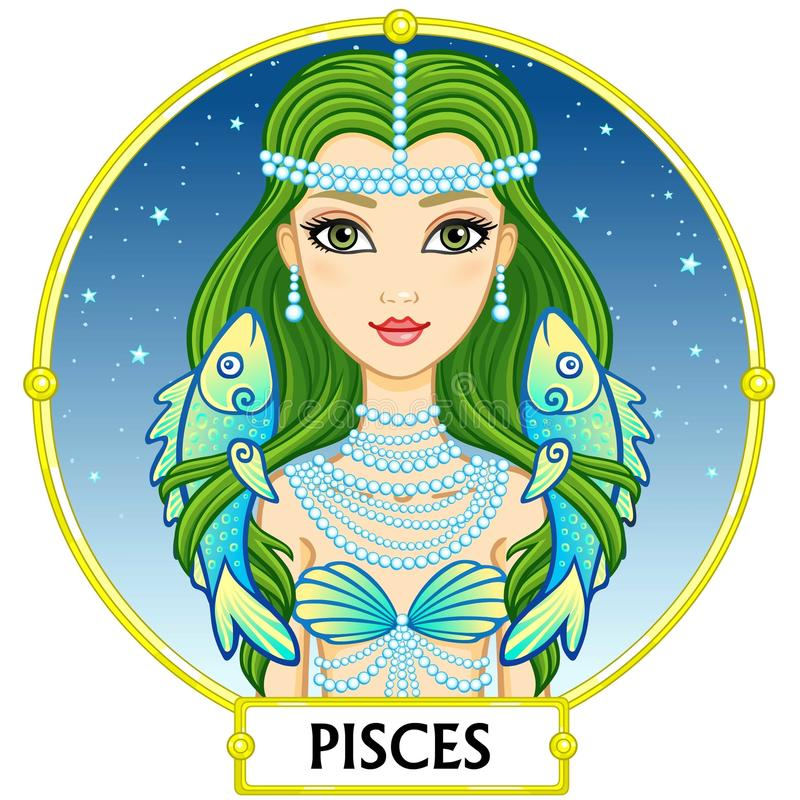 Zodiac sign Pisces. royalty free illustration