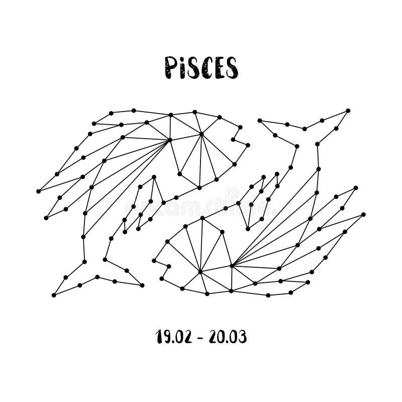 Download Zodiac Sign Pisces Design Element For Flyers Or Greeting Cards Emblem Logo