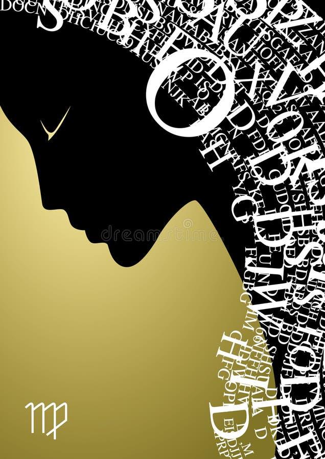 Zodiac sign virgo vector illustration