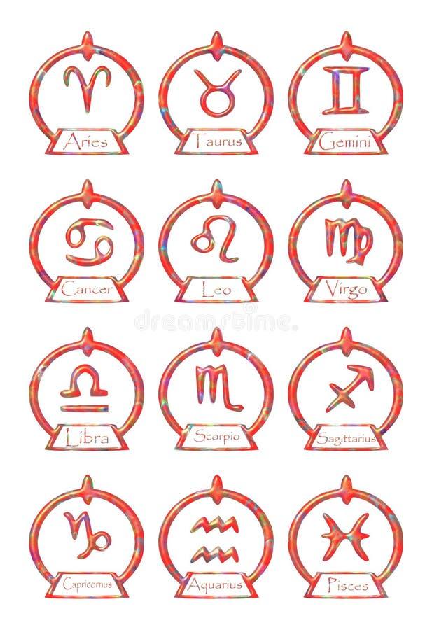 Download Set Of Zodiac Signs Symbols In An Elegant Version Stock Image - Image: 15215029
