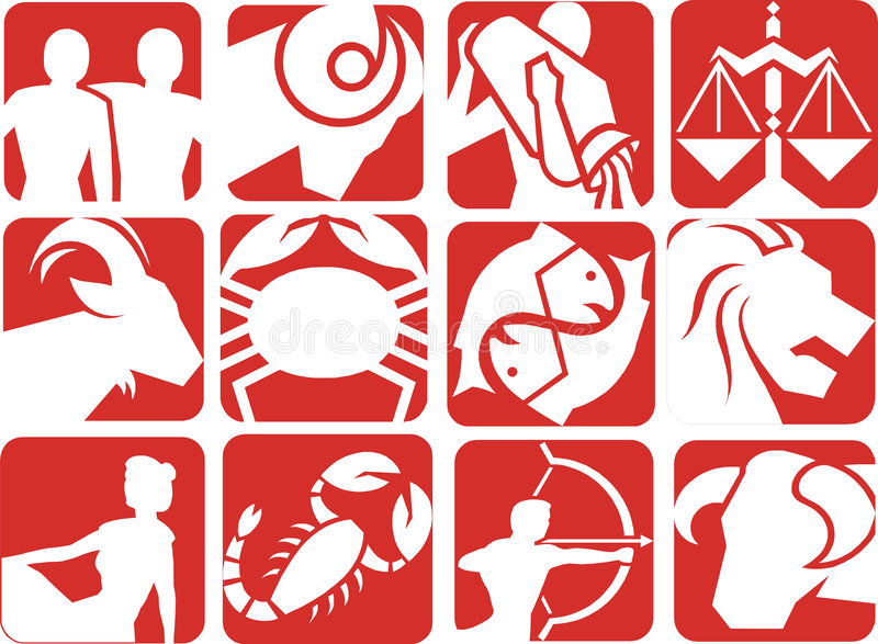 Zodiac signs stock images
