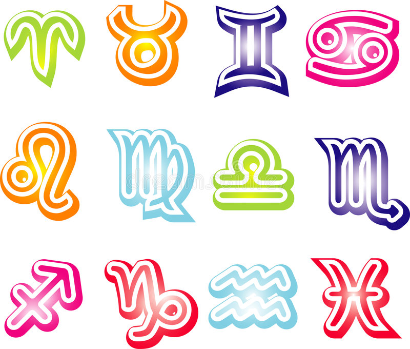 Download Zodiac signs stock vector. Image of cosmos, capricorn - 7221344