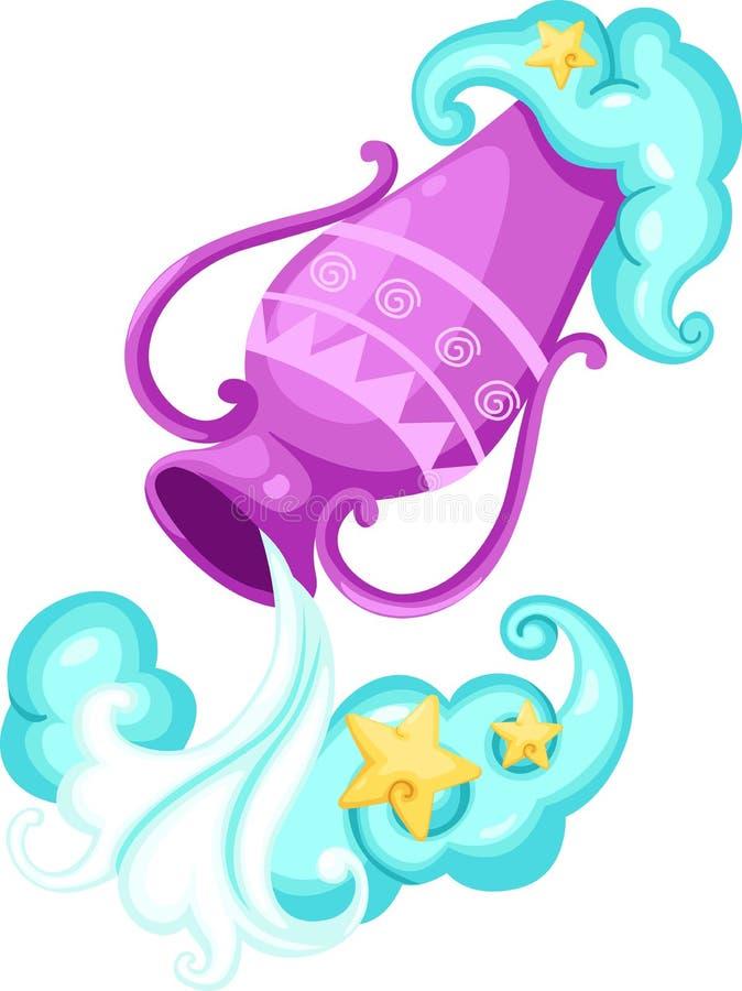 Zodiac signs - Aquarius stock photo