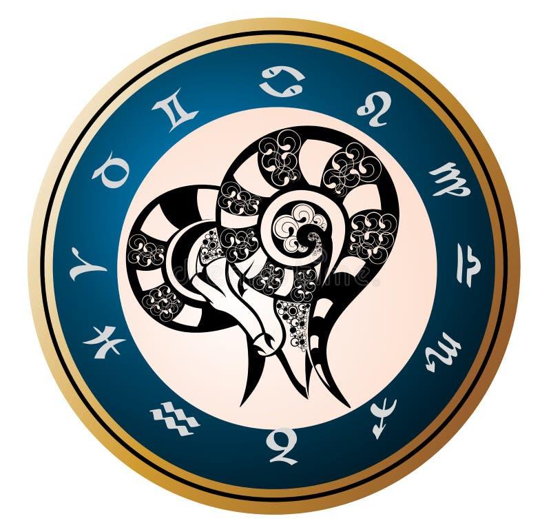 Zodiac signs - Aries vector illustration