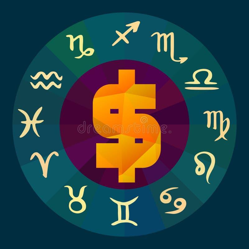 Zodiac Signs Business Horoscope Stock Vector - Illustration of night ...