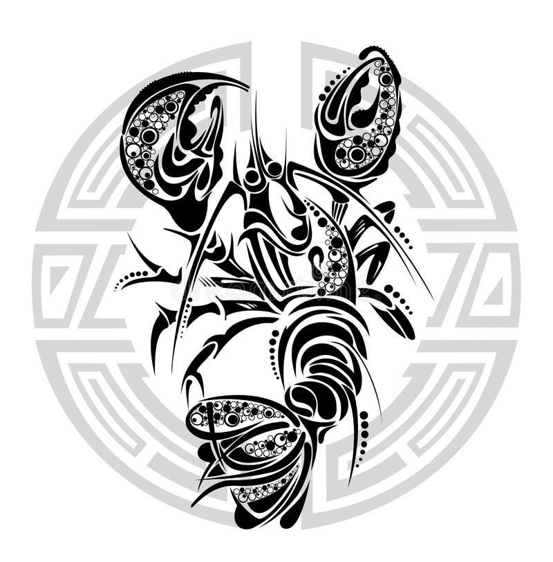 Cancer. Tattoo Design. Editorial Stock