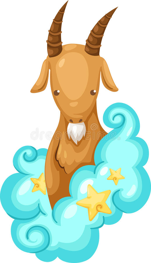 Zodiac signs -Capricorn. Zodiac signs capricorn illustration on a white background stock illustration