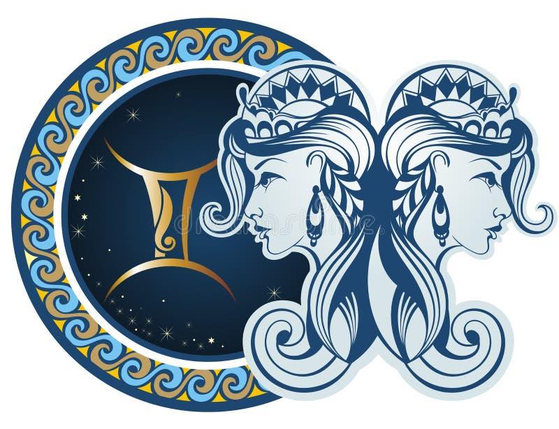 Zodiac signs - Gemini royalty free illustration