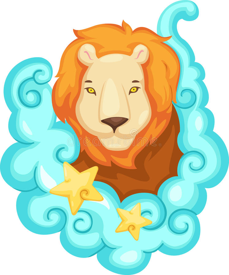Download Zodiac signs - Lion stock vector. Image of calendar, profile - 25672121
