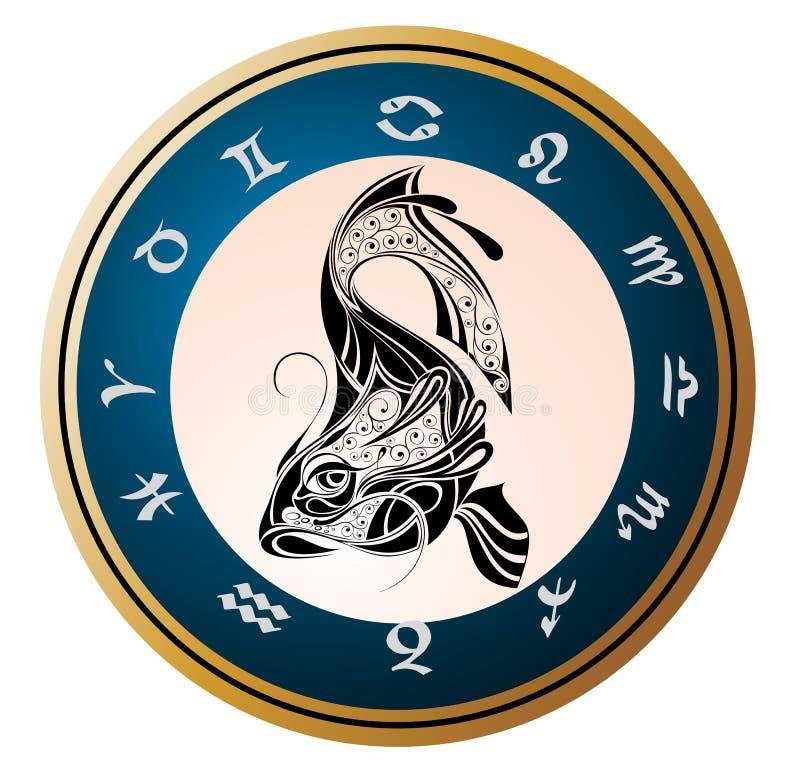 Zodiac signs - Pisces vector illustration