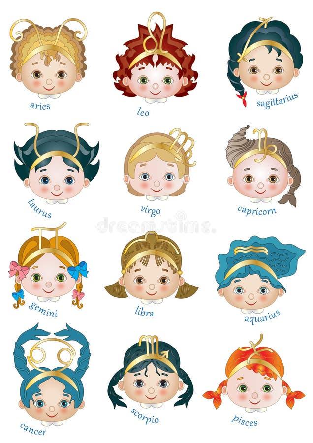 Download Zodiac stock vector. Illustration of images, twelve, fire - 39503432