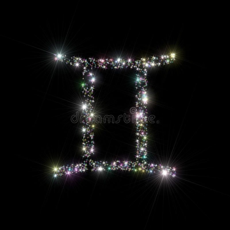 Zodiac stars Gemini stock images