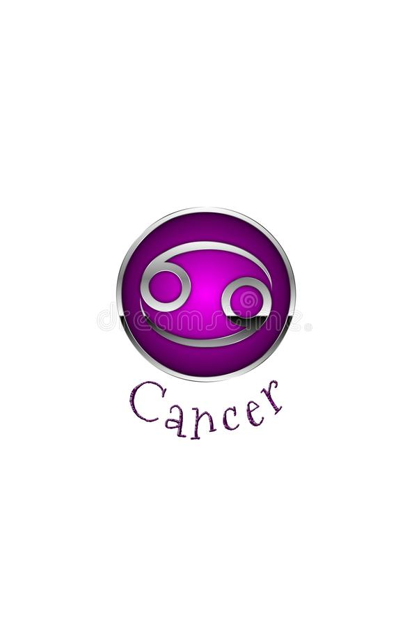 Zodiac Symbol for Cancer. An Illustration for the zodiac symbol Cancer. June 22nd -- July 22nd. Tropical Zodiac royalty free illustration