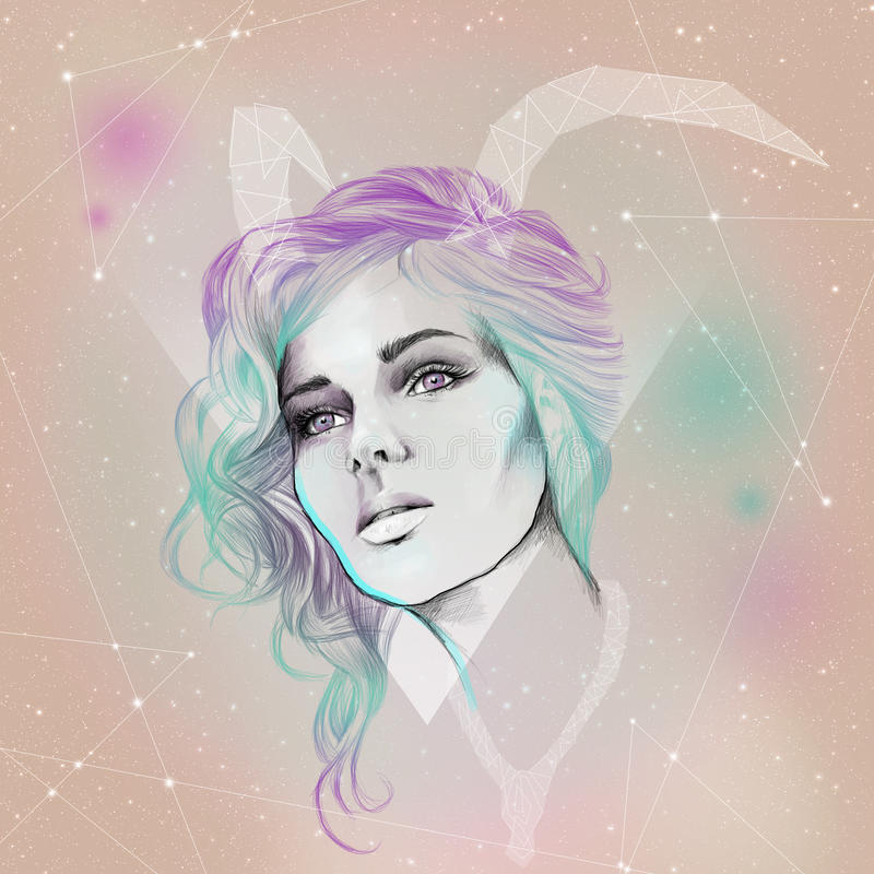 Zodiac taurus stock photo