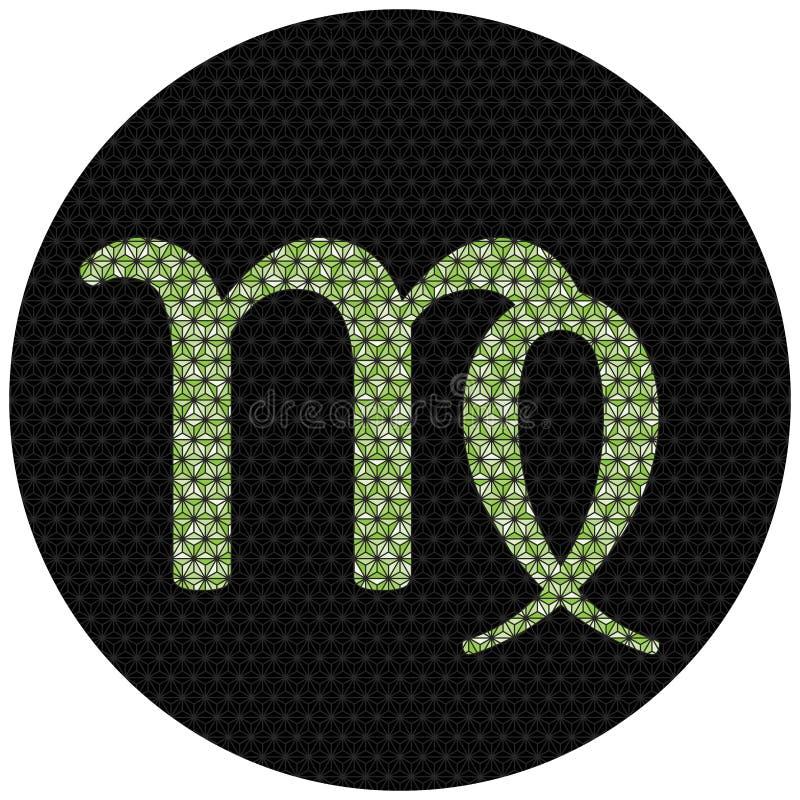 Zodiac Virgo σημάδι διανυσματική απεικόνιση