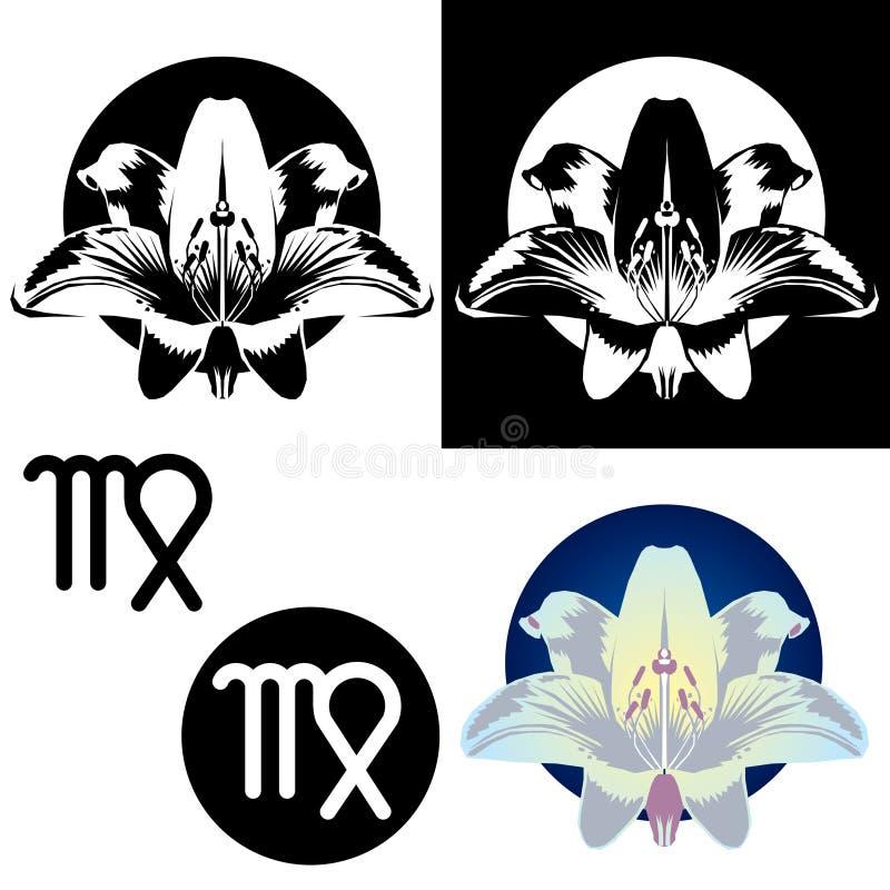 Zodiac Virgo Icons stock image