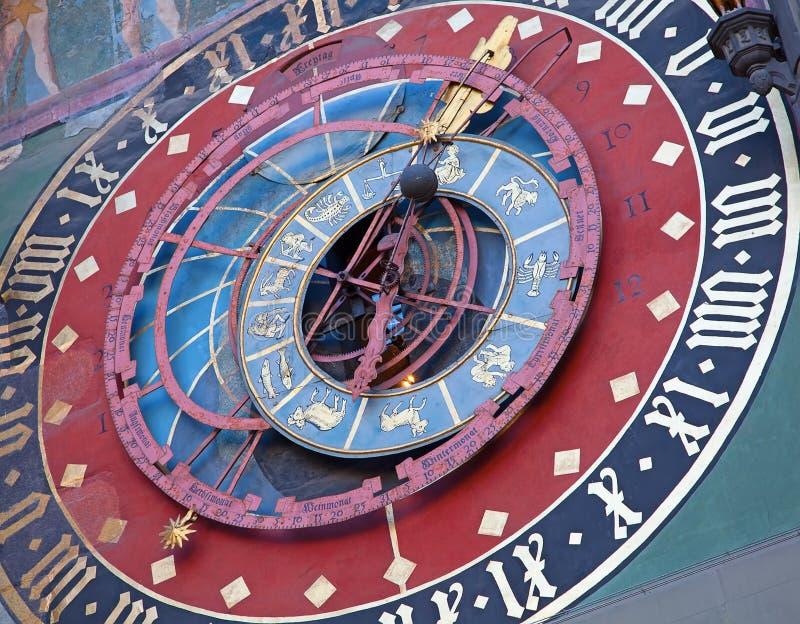 Zodiacal часы в Bern стоковое фото rf