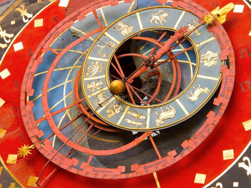 Zodiacal Borduhr in Bern stockfoto