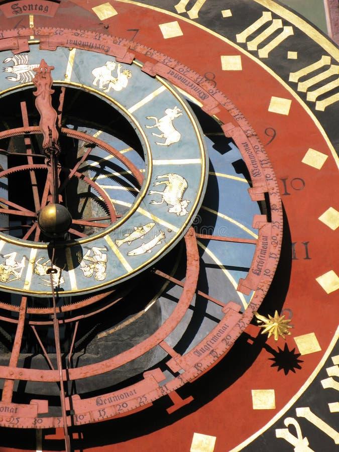 Zodiacal clock stock photography