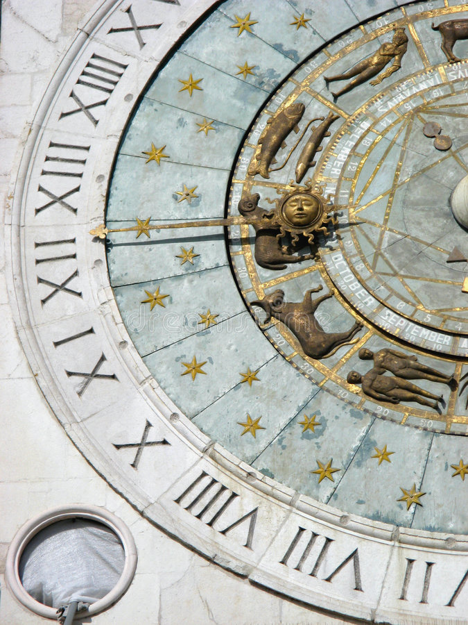 Free Zodiacal Clock Detail Royalty Free Stock Images - 3996639
