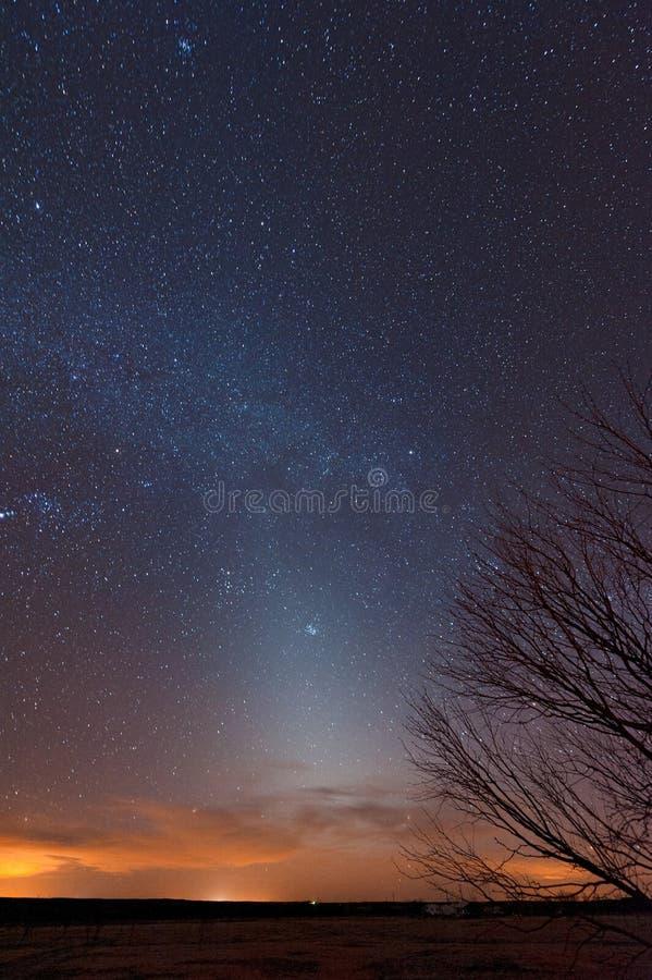 Zodiacal Leuchte lizenzfreie stockbilder