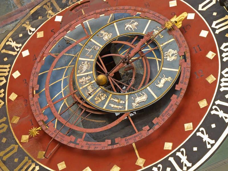 Zodiacal Uhr in Bern stockfotografie
