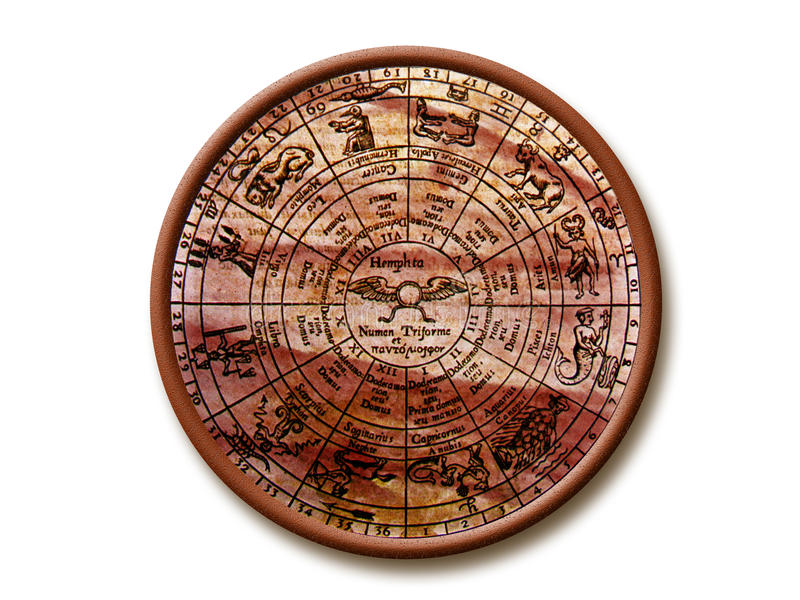 Zodiaco antico fotografia stock