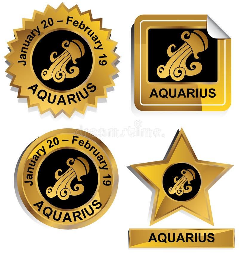 Zodiaco - Aquarius illustrazione vettoriale