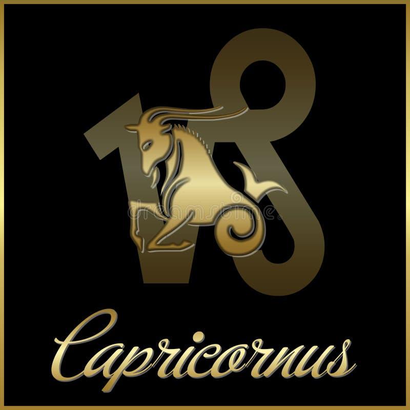 Zodiaco Capricornus stock de ilustración
