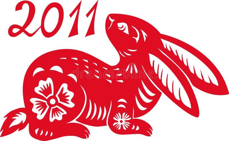 Zodiaco chino del año del conejo. ilustración del vector