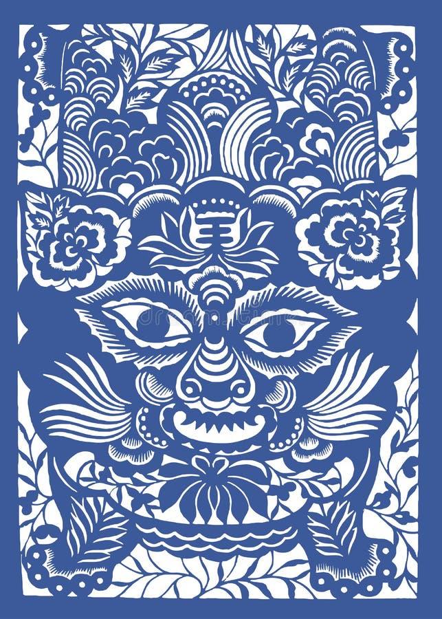 Zodiaco chino del año del tigre libre illustration