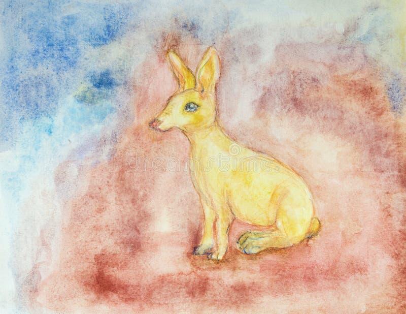 Zodiaco cinese, anno del coniglio illustrazione vettoriale