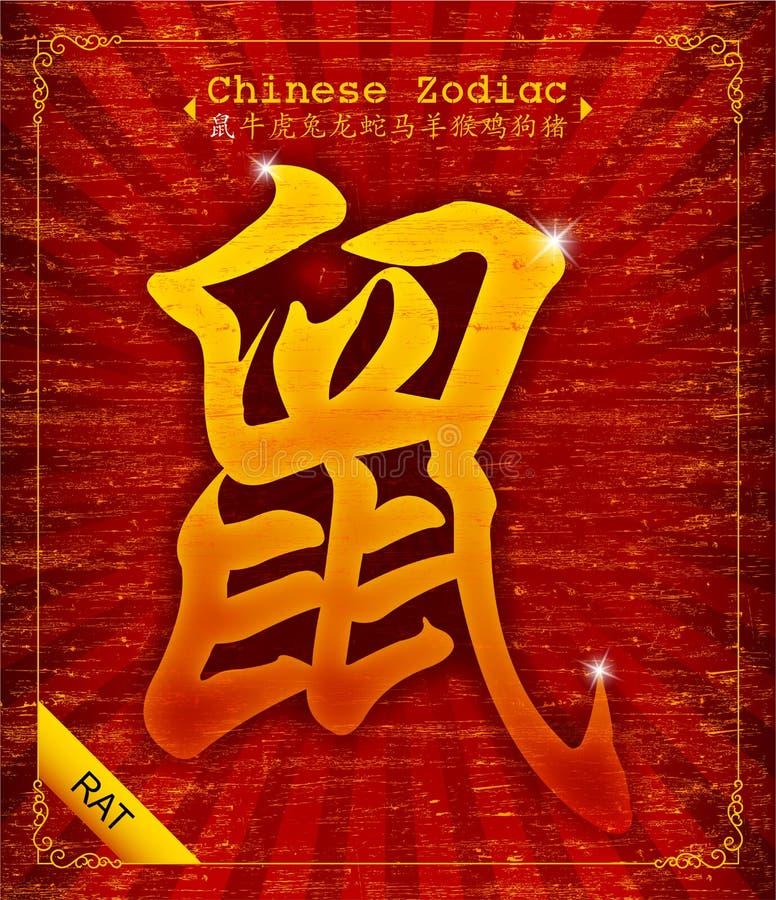 Zodiaco cinese - anno del ratto royalty illustrazione gratis