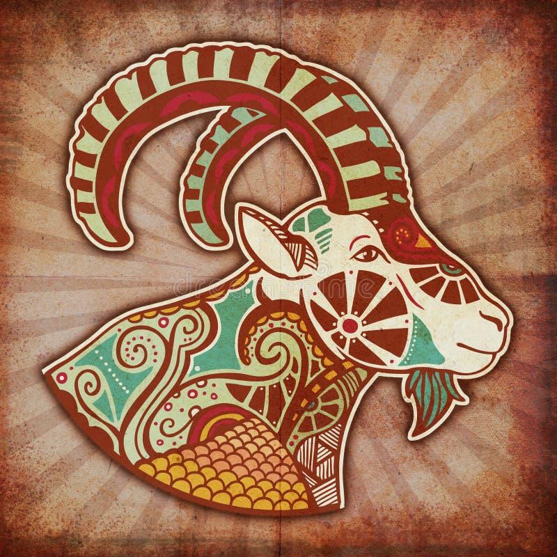 Zodiaco de Grunge - Capricornio stock de ilustración